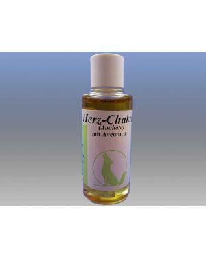 Herz-Chakra-Öl mit Edelstein Aventurin, 15ml