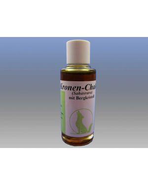 Kronen-Chakra-Öl mit Edelstein Bergkristall, 15ml