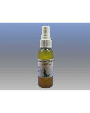 Kronen-Chakra-Massgeöl mit Edelstein Bergkristall, 50 ml Sprühflasche