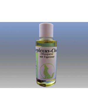Solarplexus-Chakra-Öl mit Edelstein Tigerauge, 15ml